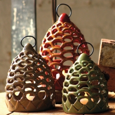 Pinecone Lanterns, Set of 3