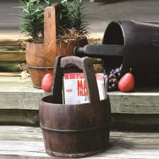 Norwich Water Bucket, Dark Wood made by Charming Rustic Accents.