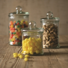Oakley Canisters, Glass, Set of 3 made by Charming Rustic Accents.