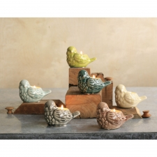 Ceramic Bird Tealight Holders, Set of 6