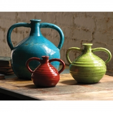 Rustic Handled Jugs, Set of 3