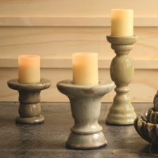 Harper Candle Holders, Set of 3 made by Charming Rustic Accents.