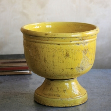 Ceramic Planter, Canary Yellow