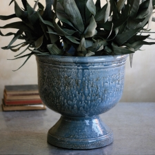 Ceramic Planter, Stonewashed Blue