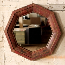 Atchison Mirror, Distressed Rust made by Charming Rustic Accents.