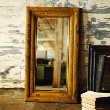 Augusta Mirror, Distressed Mustard made by Charming Rustic Accents.