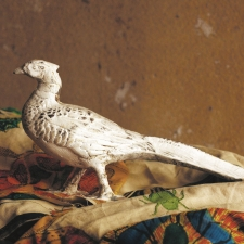 Cast Iron Pheasant, Ivory made by Charming Rustic Accents.