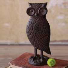 Cast Iron Owl Statue