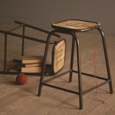Sedgwick Stool with Wooden Top made by Charming Rustic Accents.