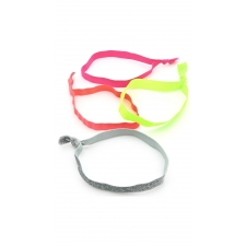 Neon Shine Headbands, 4 Pieces