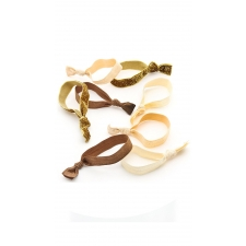 Gold Goddess Hair Ties, 8 Pieces