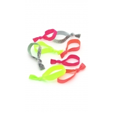 Neon Shine Hair Ties, 8 Pieces