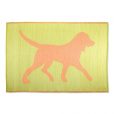 Dog Silhoutte Reversible Rug, Orange