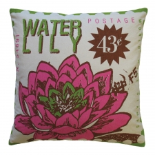Water Lily Toss Pillow