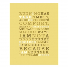 Running Love Print, Gold