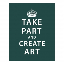 Take Part and Create Art Print