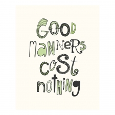 Good Manners Print, Green