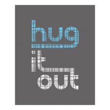 Hug It Out Print, Gray