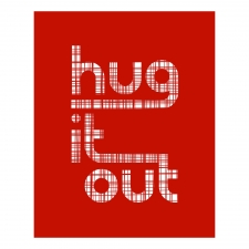 Hug It Out Print, Red