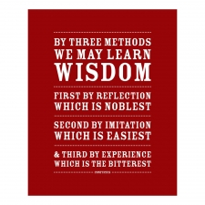 Three Ways to Wisdom Print, Red