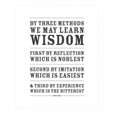 Three Ways to Wisdom Print, White