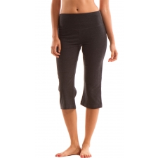 Tummy Control Capri, Heather Ebony - L