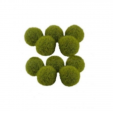 10-Piece Green Fuzzy Balls
