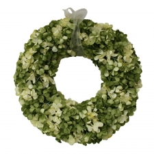 "15"" Benton Hydrangea Wreath, Yellow/Green"