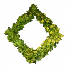 "11"" Liberty Preserved Boxwood Square Wreath"