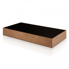 Salk Rectangular Coffee Table, Walnut