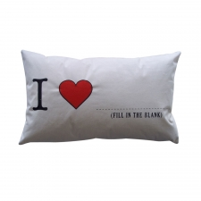 I Love Blank Pillow