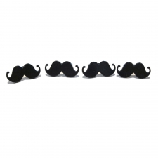 Mustache Rings - Set of 4
