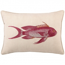 D.L. Rhein Snapper Embroidered Pillow