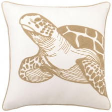 "18"" Sea Turtle Embroidered Pillow"