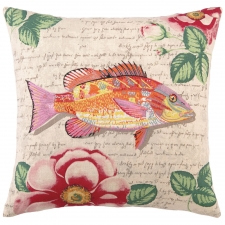 "18"" Yellow Tropical Snapper Pillow"