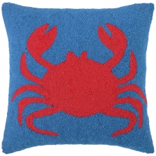 "18"" Chic Crab Hook Pillow"