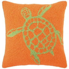 "18"" Green Turtle Hook Pillow"