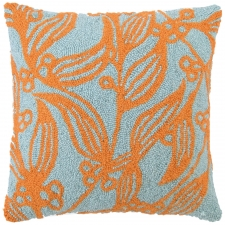 "18"" Orange Flowers Hook Pillow"