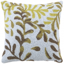 "18"" Green Kelp Hook Pillow"