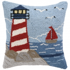 "16"" Lighthouse Hook Pillow"
