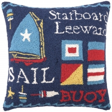 "18"" Set Sail Hook Pillow"