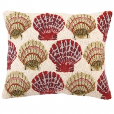 "18"" x 22"" Red Clam Hook Pillow"