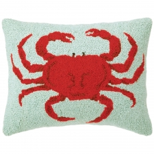 "14"" x 18"" Red Crab Hook Pillow"