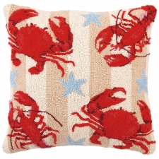 "18"" Red Crustaceans Hook Pillow"