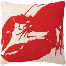 "18"" Red Lobster Hook Pillow"