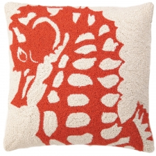 "18"" Red Seahorse Hook Pillow"