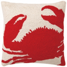 "18"" Red Crab Hook Pillow"
