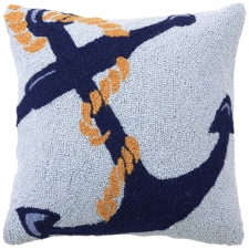 "18"" Anchor and Rope Hook Pillow"