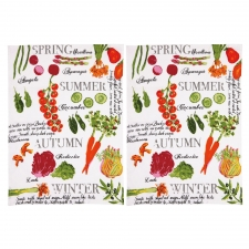 Farmer's Market Kitchen Towel, Set of 2 made by The Couture Chef.
