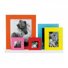 Assorted Colorful Photo Frames, Set of 5